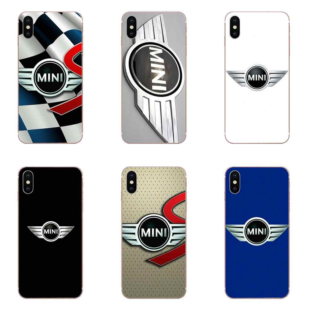 Mini Cooper Black Red Inspired Soft Design Customized For Apple iPhone 4 4S 5 5C 5S SE 6 6S 7 8 Plus X XS Max XR