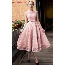 Розовые платья для выпускного вечера кружевные с бисером рукавами