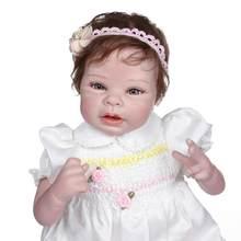 Npk-100% de cuerpo suave de arte coleccionable, 55 cm, hecho a mano, para bebé