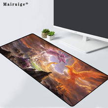 Mairuige gaming mouse pad landscape dragon and bird pattern