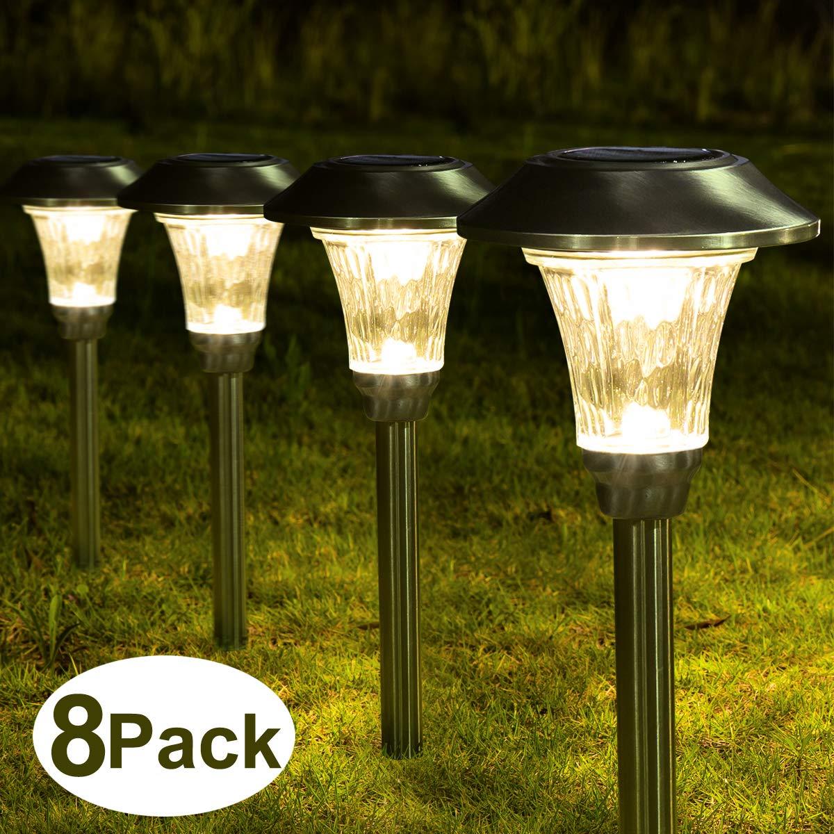 Diamond-shaped lamp with solar energy outdoor waterproof LED landscape lighting for garden, patio, lawn, patio, sidewalk