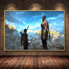 HD God Of War 4 Game Oil Painting on Canvas Posters and Prints Cuadros Wall Art Pictures For Living Room Home Decor picasso classic colorful wall art canvas posters prints painting oil wall pictures for office living room home decor artwork hd