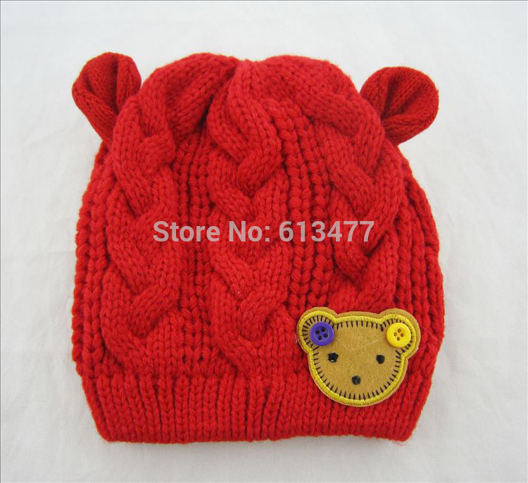 Winter  Keep Warm Knitted Hats For Boy/girl/kits Hats Set,scarves, Bug/bee  Infants Caps Beanine For Chilld 5pcs/lot MC02