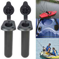 2pcs Flush Mount Fishing Boat Rod Holder Bracket With Cap Cover Kayak Fishing Tackle Rowing Boats Kayak Accessory Tool