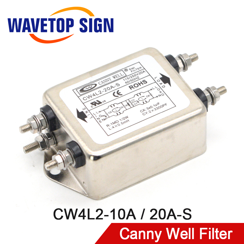 CANNY WELL CW4L2-20A-S EMI Power Filter Single-phase Double-section Power Filter CW4L2-10A-S CW4L2-6A-S