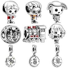 925 серебряные новые оригинальные Мультяшные подвески для девушки с бусинами, подвески для Пандора, браслеты и ожерелья для женщин, самодельные Украшения для влюбленных
