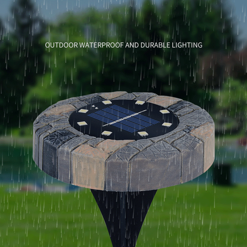 Stone-like Solar Light Outdoor Garden Plastic Buried Light LED Waterproof Landscape Decoration Super Bright Garden Lawn Light