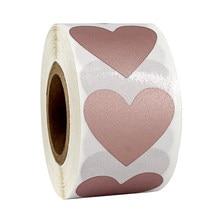 300 Uds./rollo de etiquetas en forma de corazón billete de boda portátil para álbum de recortes rasguños pegatinas lotería Raffle papelería actividad