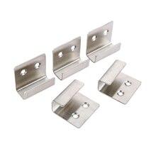 Rack-Holder Hardware Furniture Wall-Hanger Glass-Board Display Stainless-Steel 5pcs Ceramic-Tile