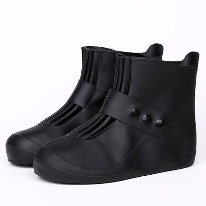Waterproof Protector Shoes Boots Cover Unisex Buckle Rain Shoe Covers High-Top Anti-Slip Thicken Rain Shoes Cases