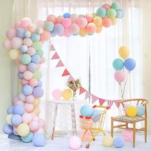 50Pcs Pastel Macaroon Latex Balloons Assorted Candy Rainbow Color Party DIY Wedding Graduation Birthday Decor D20