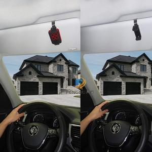 Image 2 - 10pcs wireless remote control duplicator rc remote control car with Car Sun Visor Clip Holder