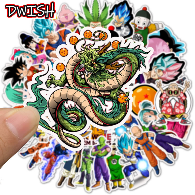 50pcs/Pack Anime DRAGON BALL Children Waterproof Stickers Skateboard Guitar Suitcase Vsco Girl Graffiti Sticker Kids Classic Toy