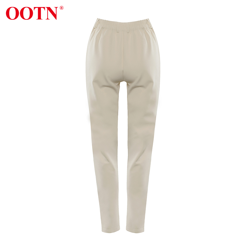 Ha1ecb557b235485d9bb9f9607c606718Z - OOTN Casual High Waist Khaki Pants Women Summer Spring Brown Ladies Office Trousers Zipper Pocket Solid Female Pencil Pants