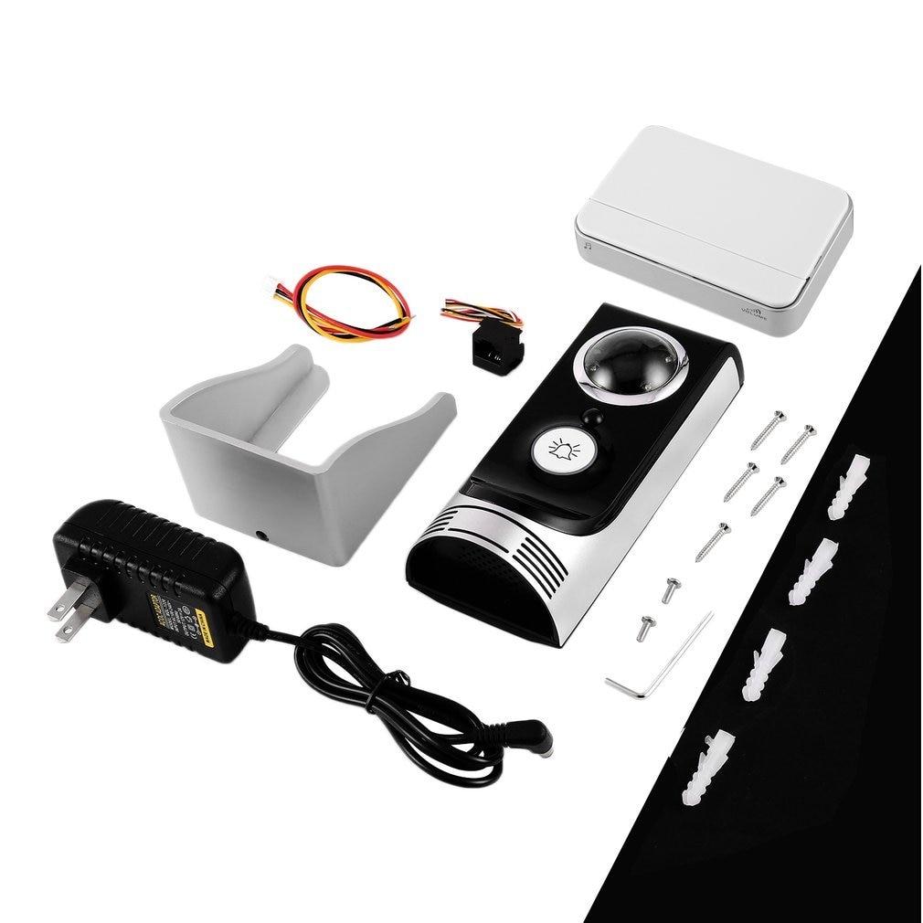 140 Degree Wide Angle Wireless WiFi Doorbell Video Intercom Doorbell Mobile Phone APP Remote Control Unlock Remote Monitoring