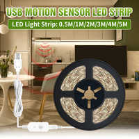 1M 2M 3M 4M 5M Wireless PIR Motion sensor Lamp Strip LED Night light Bed Cabinet Stairs light USB LED Strip lamp 5V TV Backlight