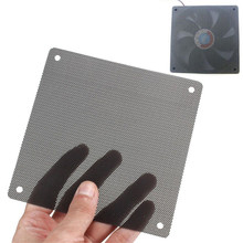 5PCS/lot 120mm Cuttable Black PVC PC Fan Dust Filter Dustproof Case Computer Mesh