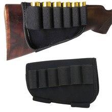 Avcılık Airsoft tüfek Butt stok kartuş kılıfı taktik 6 yuvarlak av tüfeği Buttstock cephane tutucu için 12/20 Ga mermi taşıyıcı Mili