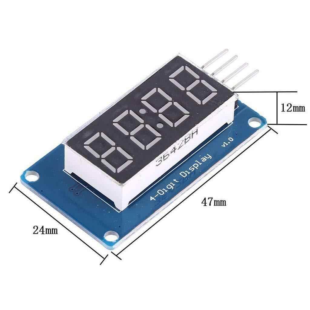 """0.36 """"4-cyfrowy rury wyświetlacz segmentowy Led moduł czerwony wspólna anoda Tm1637 układ napędowy rura zegar wyświetlacz dla arduino Uno R3"""