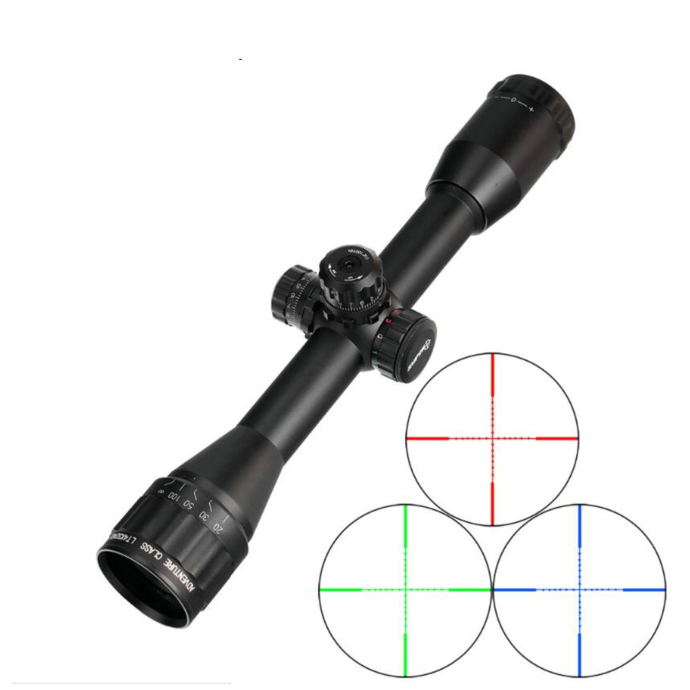 SNIPER LT 4X32 AOL 1 Inch Full Size Tactical Optical Sight Illuminate Mil-Dot RifleScope Locking Resetting Hunting Rifle Scope