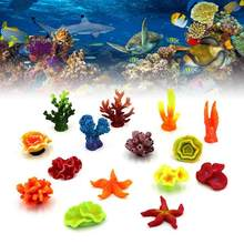 Resina de aquário coral decoração colorida peixes decoração de aquário artificial coral para tanque de peixes ornamentos de resina