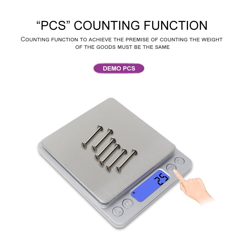 Báscula de cocina digital Básculas de joyería 3 kg 0.1g 500g 0.01g - Instrumentos de medición - foto 2