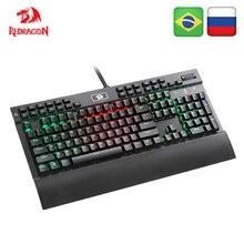 Redragon K550 Aluminium USB Mechanische Gaming Tastatur Rgb Rot Lila Schalter Diy Ergonomische Schlüssel Backlit Anti Geisterbilder PC Pro gamer