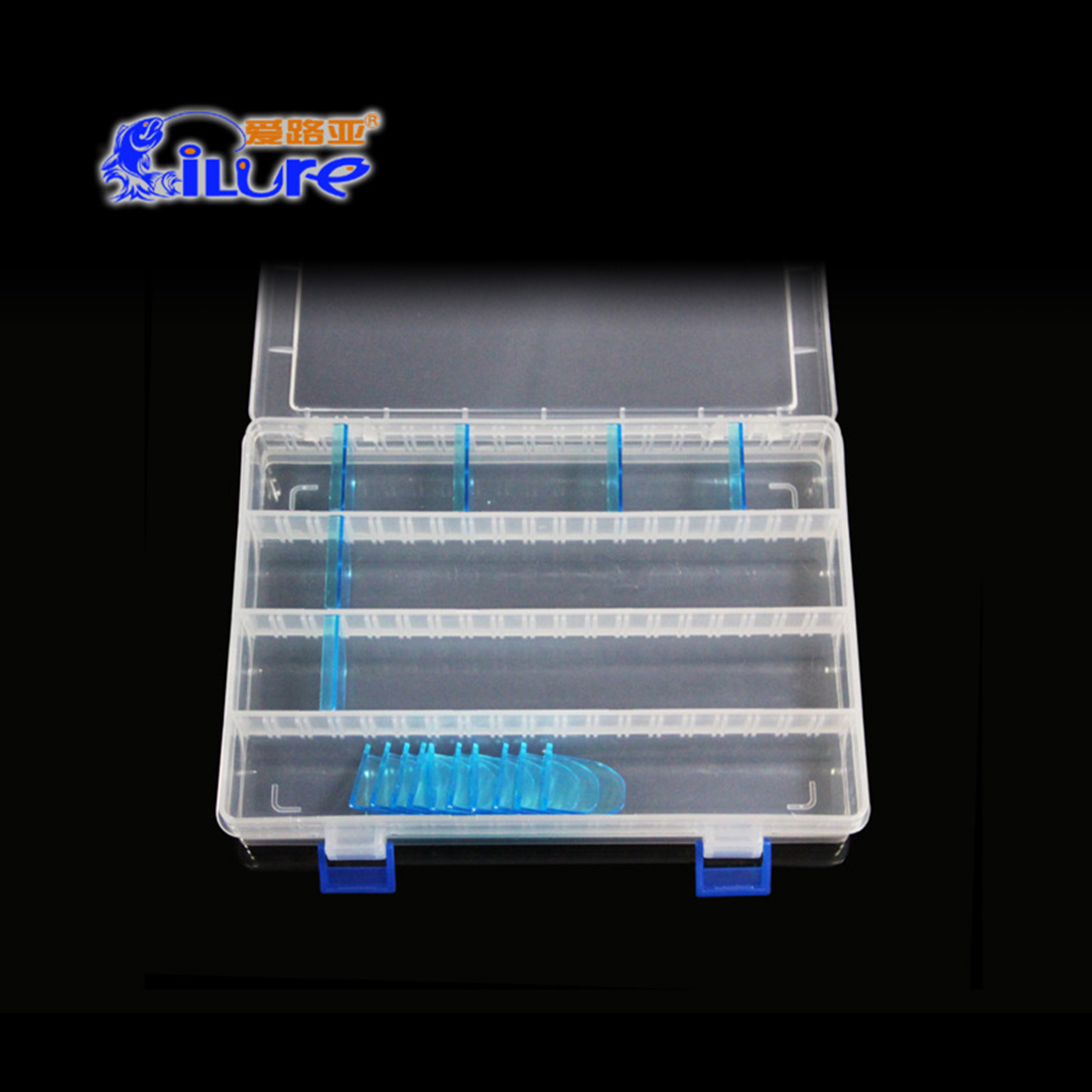 Storage Case Fishing Bait Box Portable Organizer Clear Transparent ABS High Quality Movable Baffle Plate|Fishing Tackle Boxes| |  - title=