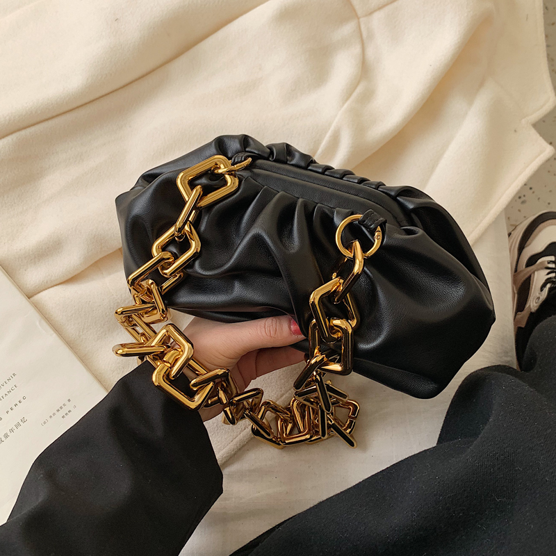 Vintage Female Soft Crossbody Bag 2020 New Quality Leather Women's Designer Handbag Vintage Chain Ladies Shoulder Messenger Bags