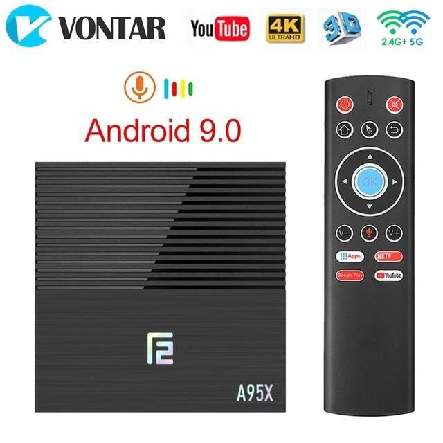 2020 فونتار A95X F2 4GB 32GB 64GB مربع التلفزيون الذكية أندرويد 9.0 Amlogic S905X3 دعم 1080p 4K يوتيوب A95XF2 TVBOX مجموعة صندوق
