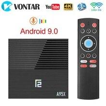 VONTAR decodificador de señal A95X F2, 4GB, 32GB, dispositivo de TV inteligente, Android 2020, Amlogic S905X2, compatible con 9,0 p, 4K, youtube, A95XF2, 1080