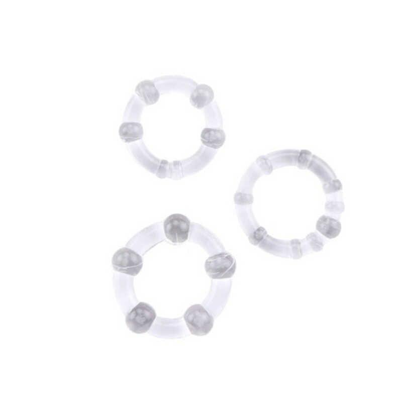 Anillo reutilizable de lunares para pene, anillo para pene para extensión de pene, productos sexuales para adultos, juguetes eróticos para hombres 3 unidades por juego