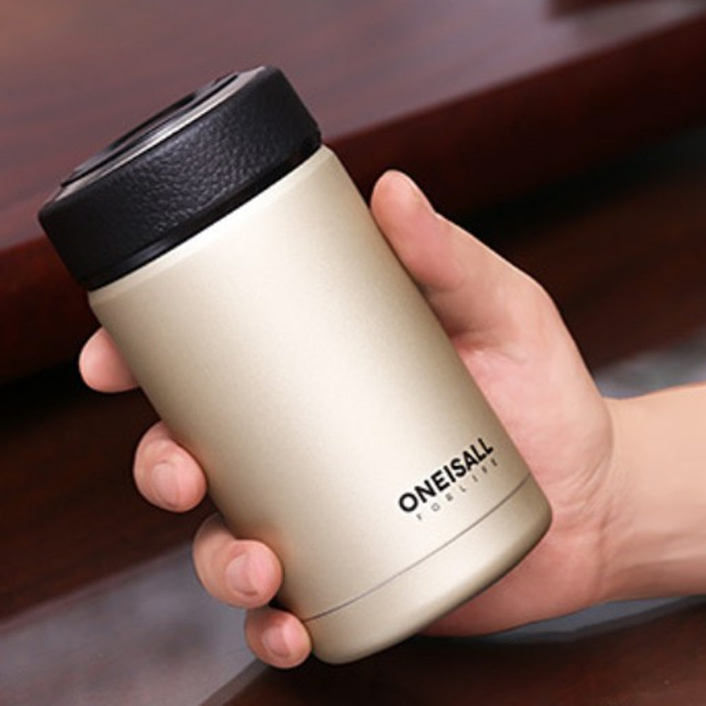 Thermos Bottle Coffee Mug Thermos Vacuum Mug Stainless Steel Coffee Cup Portable Selfdriving Water Thermos Vacuum Flask 380ML