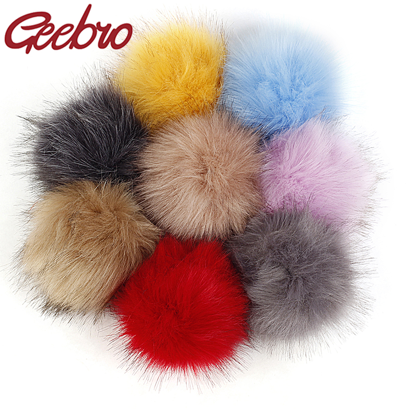 12cm Imitation Foxes Fur Pompom For Women Hat Fake Hair Ball Pom Poms For DIY Knitted Hat Cap Accessories
