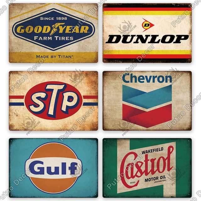 Garage Oil Metal Vintage Plates 8