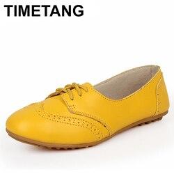 Timetangwomen sapatos 2019 de alta qualidade mulheres mocassins com laços femininos sapatos planos para mulheres casuais sapatos de condução baixo calcanhar enfermeira