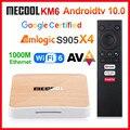 ТВ-приставка Mecool KM6 deluxe Amlogic S905X4, Android 10, сертифицированная Google ТВ-приставка, 4 ГБ, 64 Гб, поддержка Wifi6 AV1 BT5.0 4K, телеприставка 2 ГБ, 16 ГБ