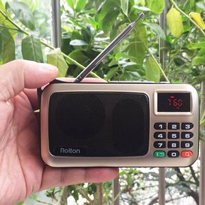 Image 5 - Rolton W405 Digital Portable Mini Mp3 Play Portable Fm radio Music Player Speaker TF USB With Flashlight Money Verify