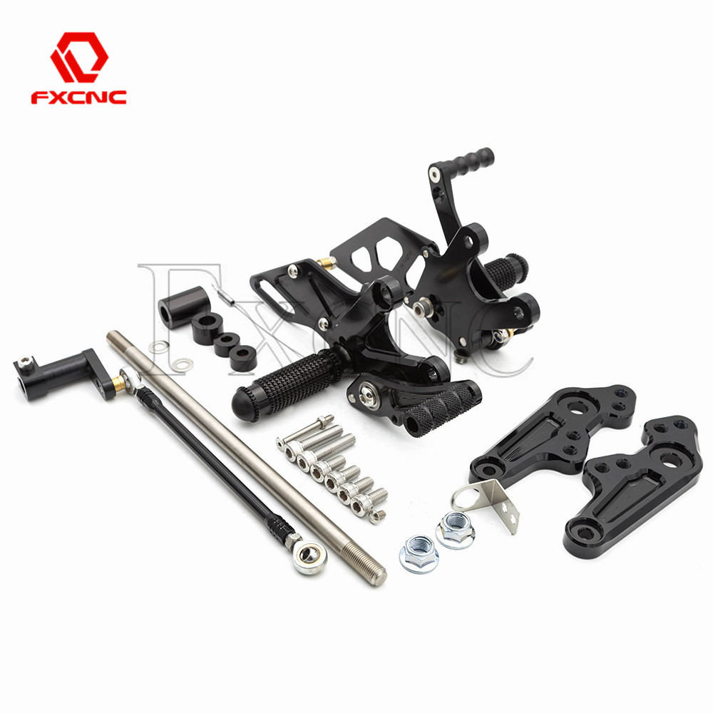 FXCNC Racing Billet Motorcycle Adjustable Rearsets Foot Pegs Rear Set for Honda Grom MSX125 2017 2018