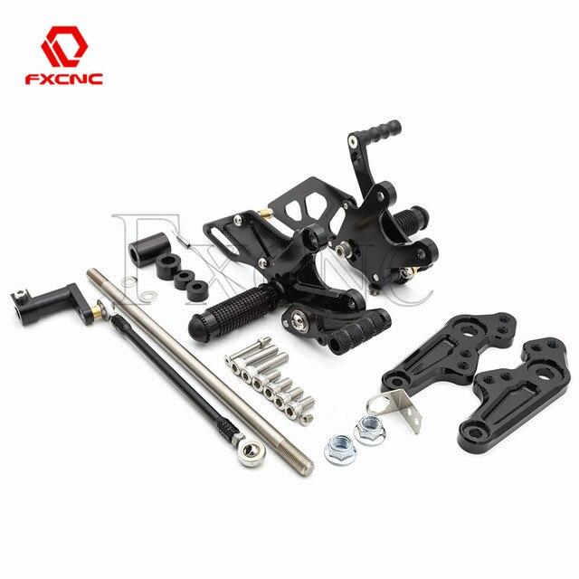 Repose-pieds en aluminium réglable   Montage de siège de moto en aluminium, cheville de pied réglable pour Honda singe Bike Z125 Z 125 2018-2020 2019