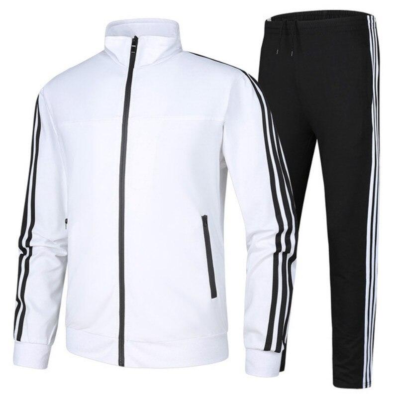 2 pièces/ensemble hiver hommes vêtements d'entraînement manteau à glissière FitnessTraining vêtements de Sport pour homme Jogging à manches longues course Sport survêtement