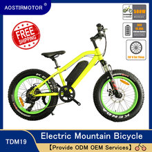 AOSTIRMOTOR Electric Mountain Bike 4 0 Fat Tire Electric Bicycle Beach Cruiser Booster Bike 500W EBike