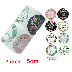 2 inch/5cm Round Floral Thank You Stickers 500pcs for Wedding Favors and Party Handmade Gife Envelope Seal Stationery Sticker