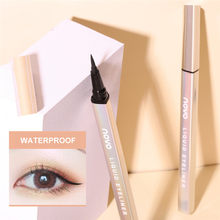 Novo final preto delineador caneta pequena caneta de ouro de secagem rápida à prova dwaterproof água duradoura lápis de olho líquido cosméticos