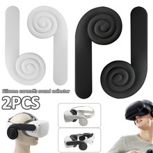 Design Silicone Ear Muffs for Oculus Quest/ Quest 2 VR Headset A Enhancing Sound Solution for Quest 2 (1 Pair) Virtual Reality