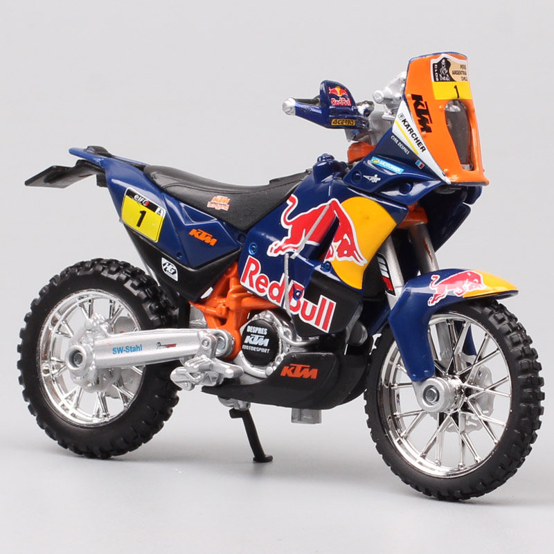 1/18 Scale Bburago KTM 450 Rally 2013 Rider No.1 Macro Red Bull Racing Motocross Enduro Motorcycle Diecasts & Toy Vehicles Model