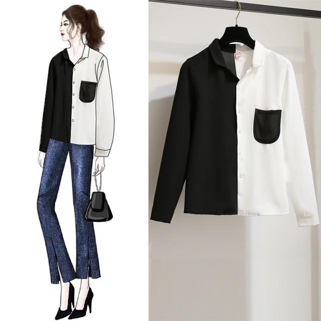 Casual Long-Sleeve Blouse  2