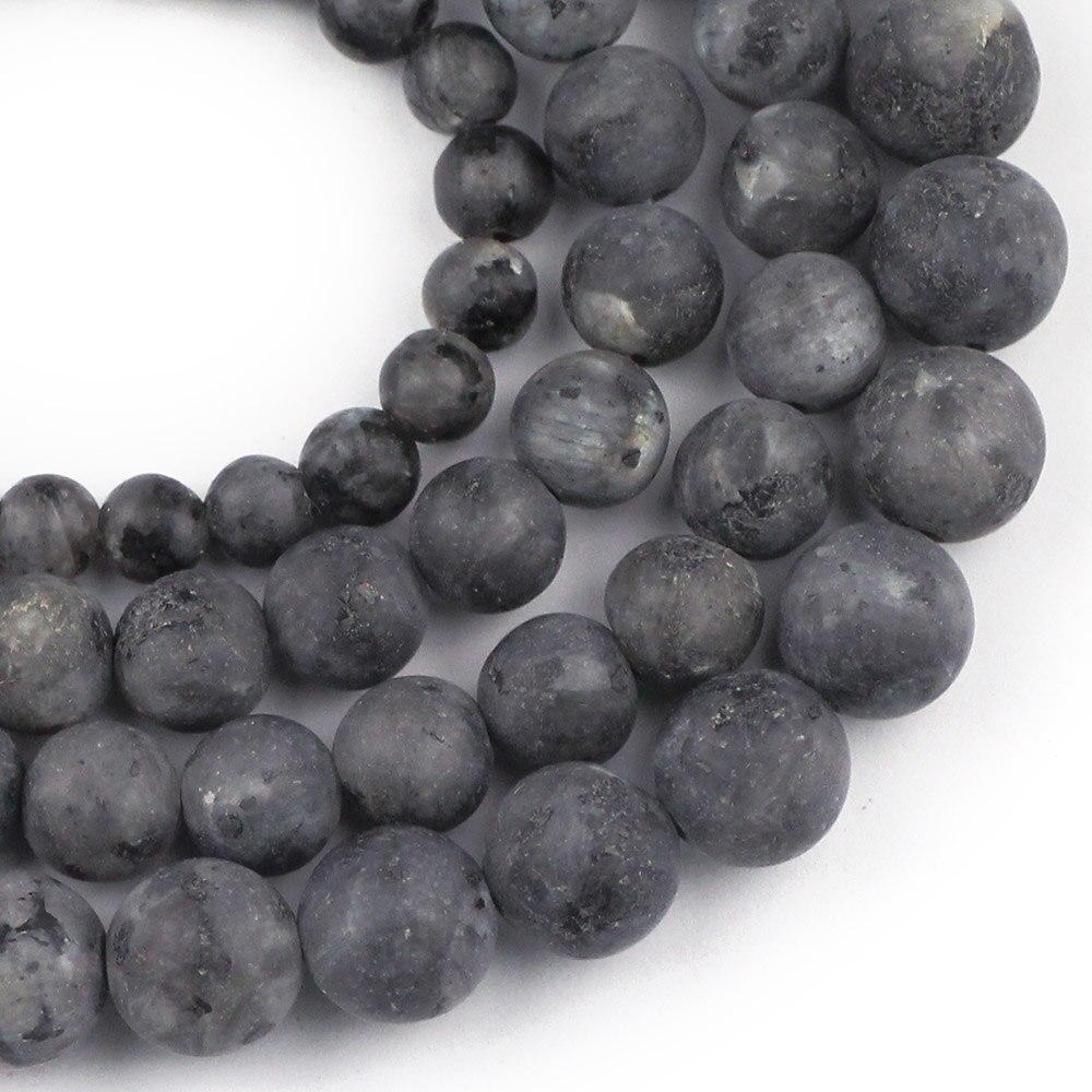 "12mm Oval Noir Labradorite Larvikite Perles en vrac Strand 15 /""bricolage"