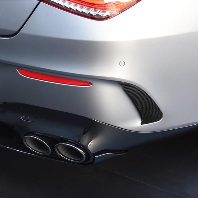 Car Styling Rear Bumper Grille Slats Spoiler Flap Wing Decoration Cover Trim Exterior For Mercedes Benz CLA C118 CLA200/220 2020 3