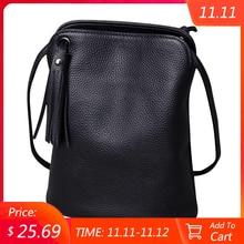 Genuine Leather Tassel Crossbody Bags Women Luxury Purse Ladies Small Shoulder Bag Fashion Money Wallets Female Messenger Bag